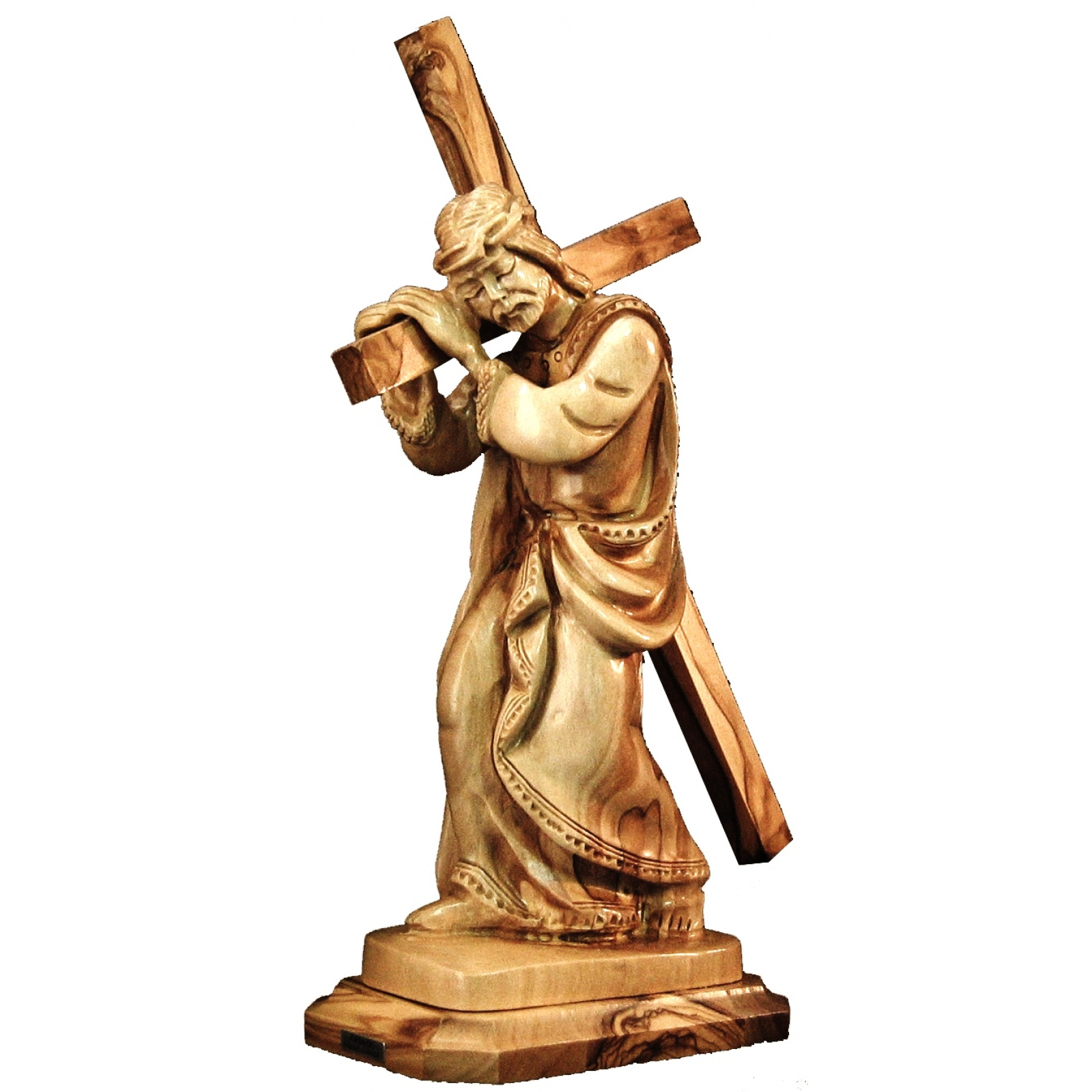 carrying cross statue