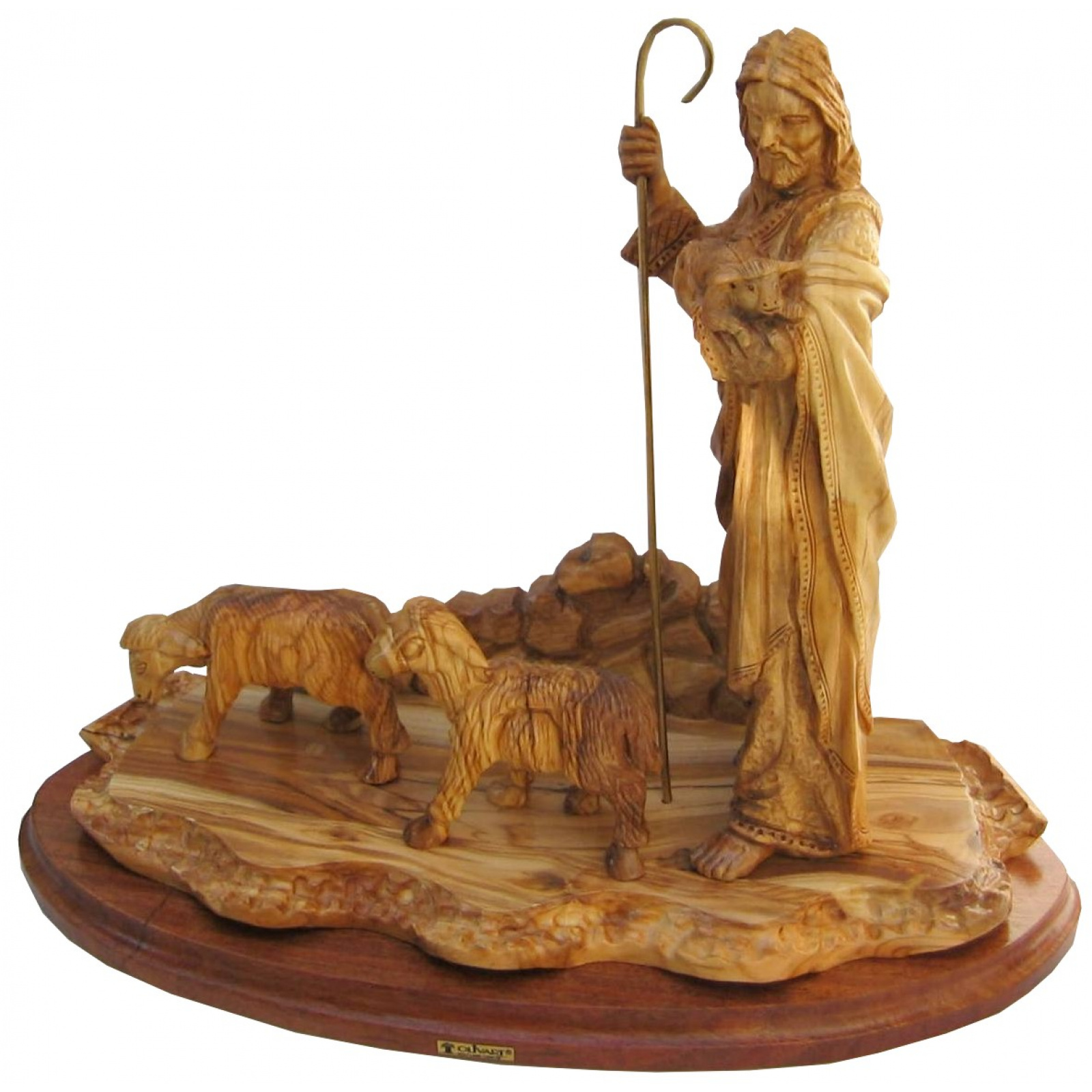 jesus christ good shepherd statue