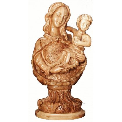 madonna infant jesus bust