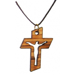 Wooden crucifix Pendant