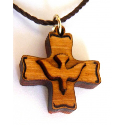 holy spirit cross pendant