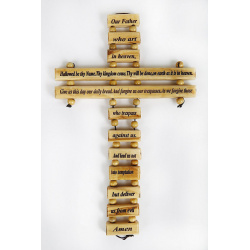 lords prayer father heaven wall cross