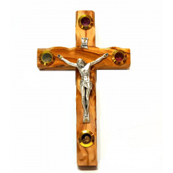 olive wood wall hanging crucifix