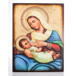 blessed mother mary breastfeeding icon