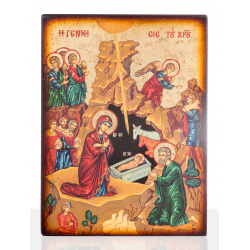 nativity christ icon