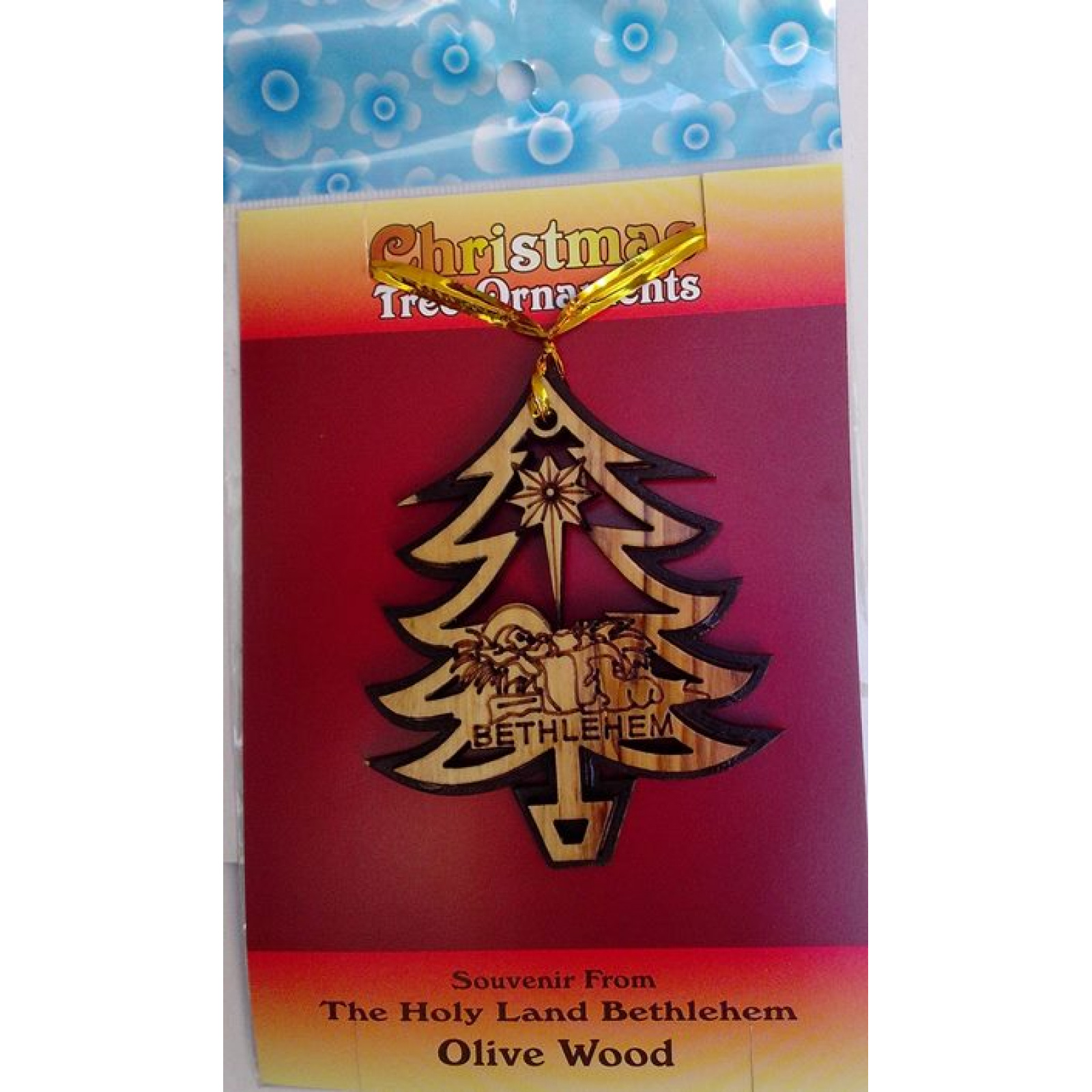 nativity christmas tree ornament