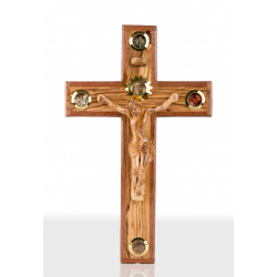 Large olive Wood wall hanging Crucifix 35cm