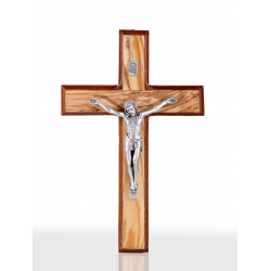 Olive Wood Mahogany Wood Crucifix