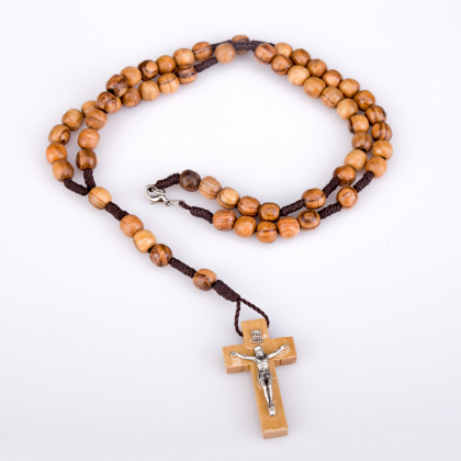 Cord Rosary Necklace