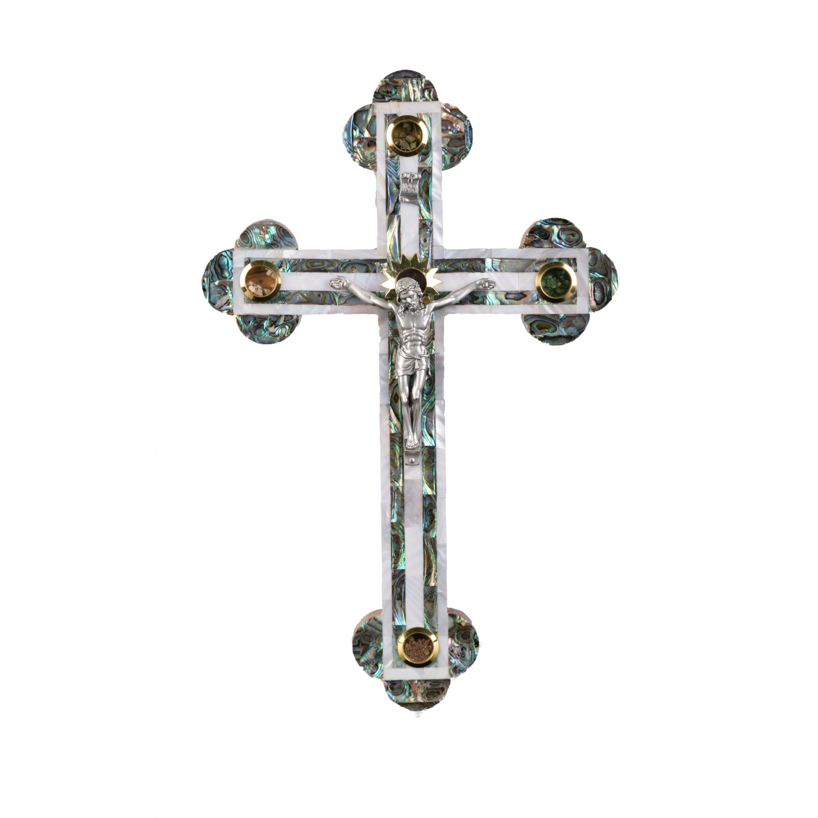 Large mother of pearl crucifix