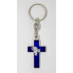 Praying hands with cross keychain