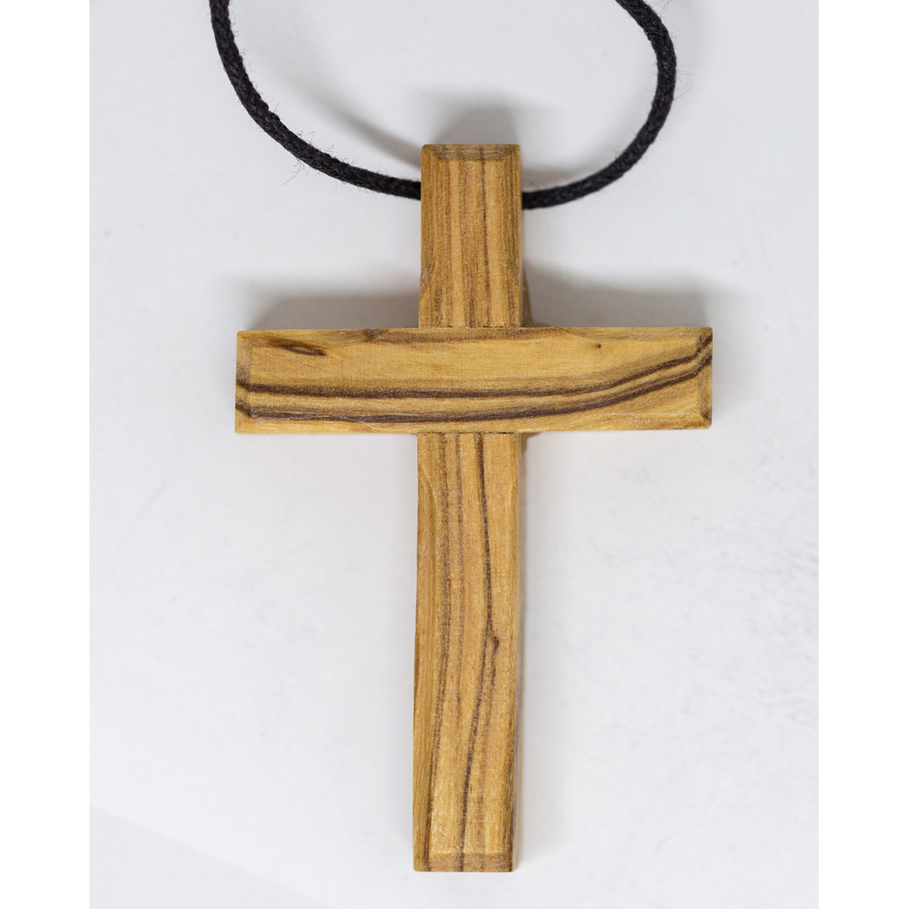 Wooden Cross Necklace Christian And Catholic Olive Wood