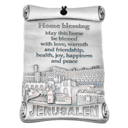 Home blessing metal wall plaque