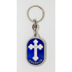 Orthodox cross keychain