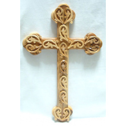 Budded cross with decorations