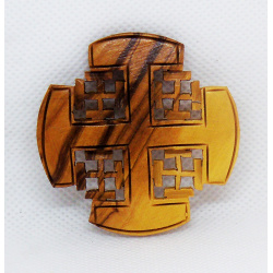 Jerusalem cross brooch