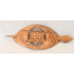 Star wooden hair buckle
