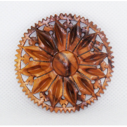 Wooden flower pin