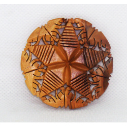 Olive Wood Star brooch