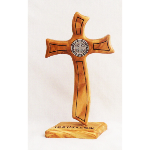 Saint Benedict contemporary standing cross