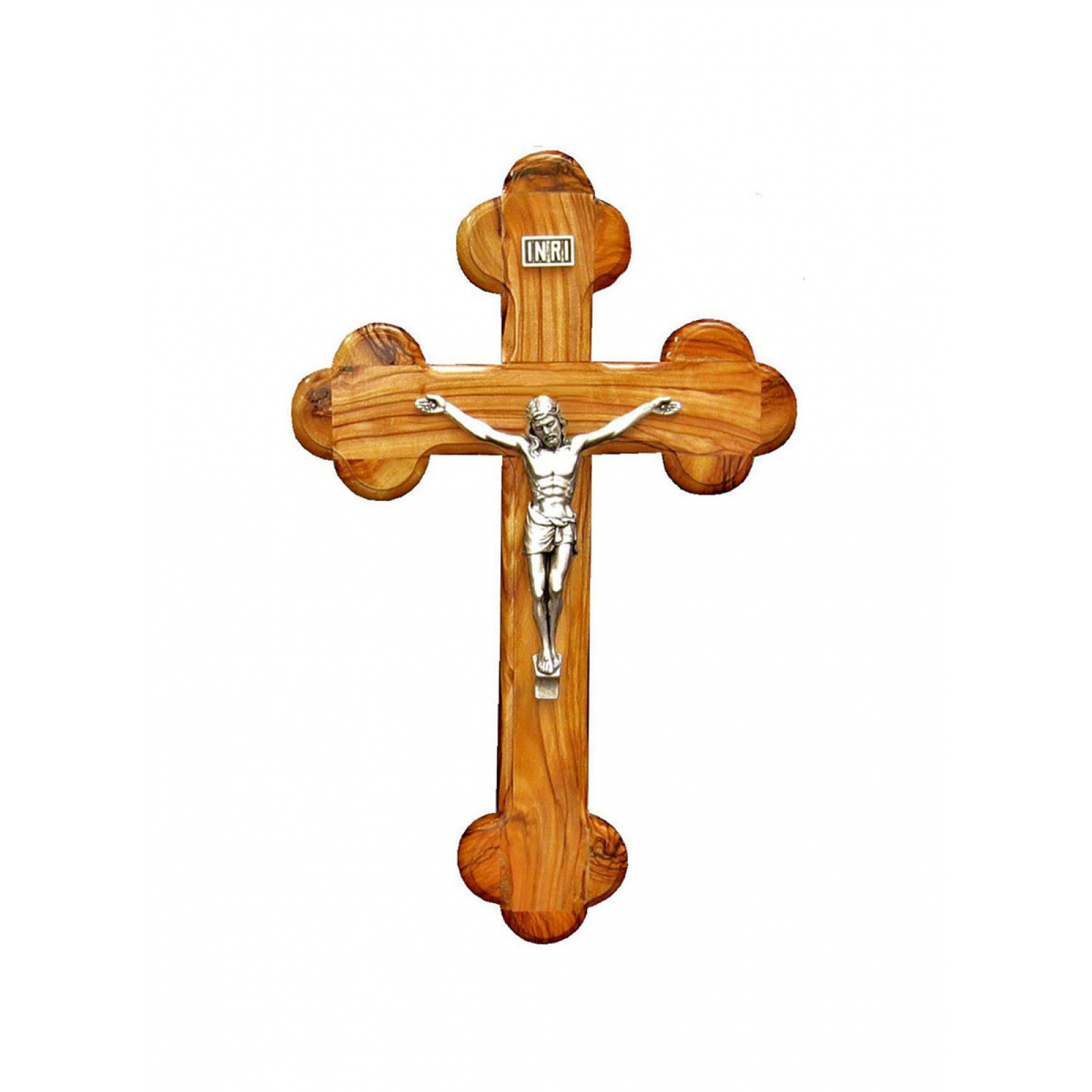 Small budded wall crucifix