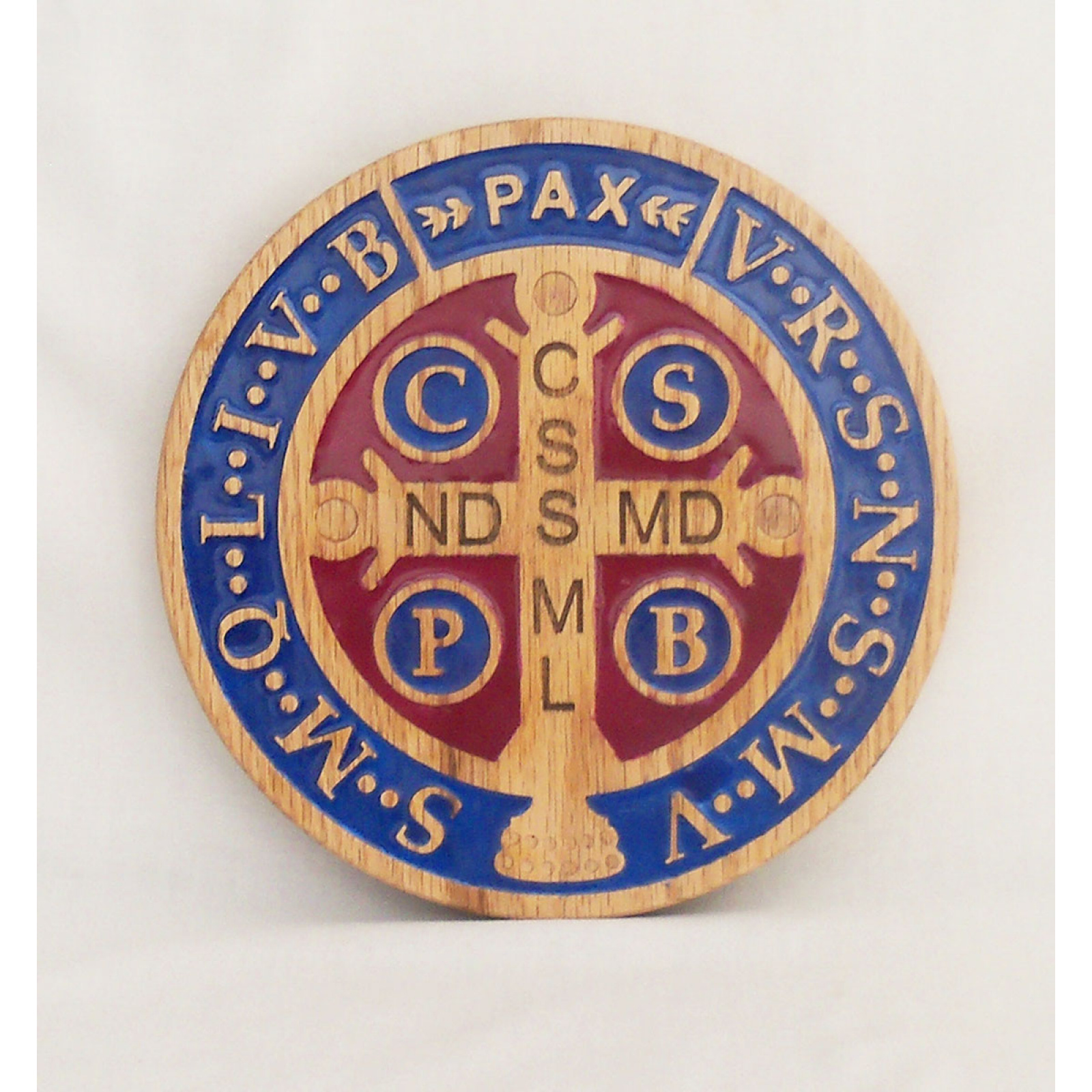 Wooden St Benedict medal